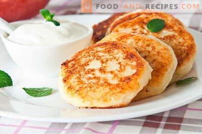 Cheesecakes sans farine - les meilleures recettes. Comment cuire rapidement et savourer des gâteaux au fromage sans farine.