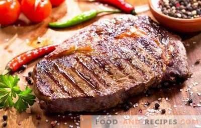 Comment faire frire un steak de porc dans une poêle avec de l'ail, des épices et de la moutarde. Nous allons faire frire un steak de porc juteux dans une casserole!