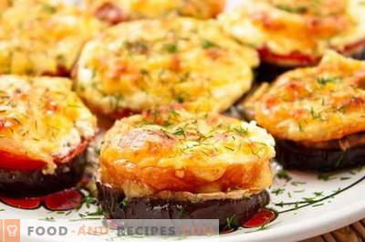 Apéritifs Aubergines - les meilleures recettes. Comment bien et savoureux des collations cuites d'aubergines.