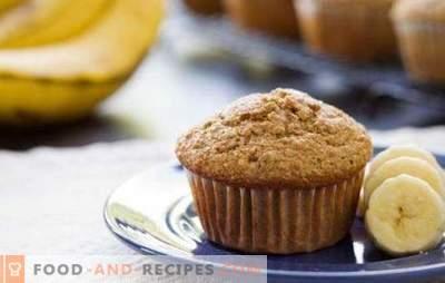 Muffins à la banane - une délicatesse délicate. Secrets et recettes de délicieux muffins à la banane: chocolat, fromage cottage, noix