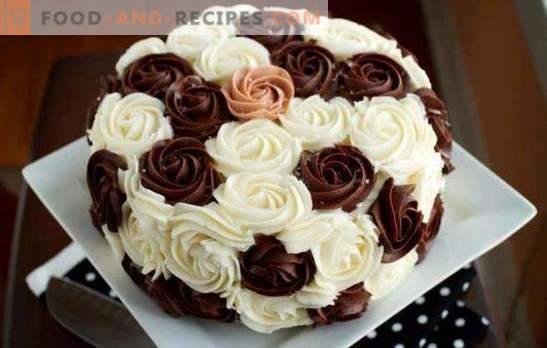 Crème de décoration pour gâteaux: Les meilleures et originales recettes. Comment faire chaque type de crème de décoration de gâteau: instructions étape par étape