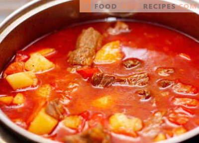 Goulache de porc - les meilleures recettes. Comment cuire correctement et savoureux goulash de porc.