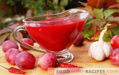 Tkemali aux prunes - une sauce parfumée universelle. Comment faire cuire tkemali de prunes: classique et original