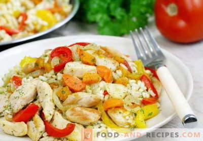Riz au poulet - les meilleures recettes. Comment cuire correctement et savoureux riz avec du poulet.