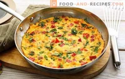 Omelette au jambon - un petit-déjeuner copieux et savoureux pressé. Les meilleures recettes pour omelette au jambon, fromage, légumes, épices