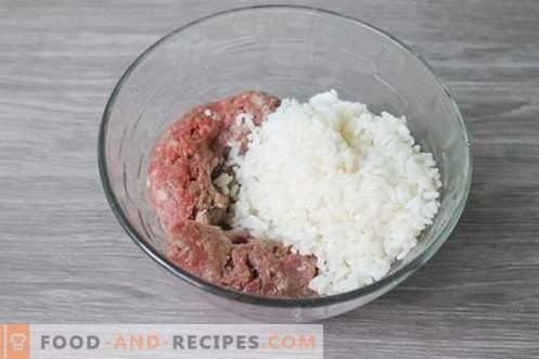 Boulettes de viande à la vapeur de hérisson - un plat de viande pour les enfants et les adultes!