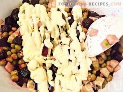 Salade de betteraves aux petits pois