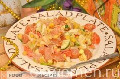 Salade légère au poulet séché