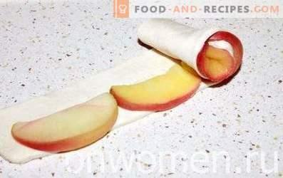 Roses à la pâte feuilletée aux pommes