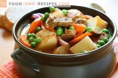 Côtes de porc avec pommes de terre en pots