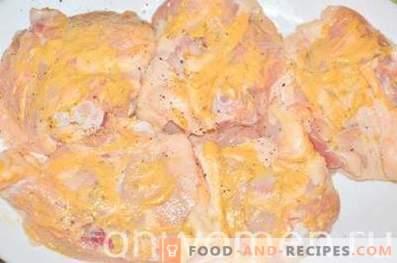 Cuisses de poulet au four à la moutarde
