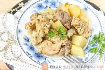 Ragoût de lapin avec pommes de terre
