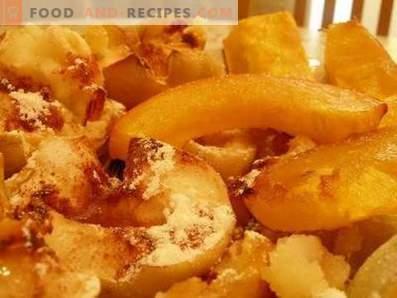 Potiron aux pommes cuit au four