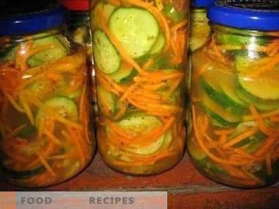 Salade de concombres envahis pour l'hiver