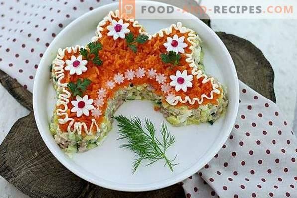 Salade de beauté russe au poulet