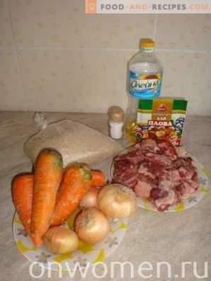 Pilaf de côtes de porc au chaudron