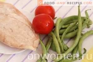 Salade aux haricots verts et au poulet