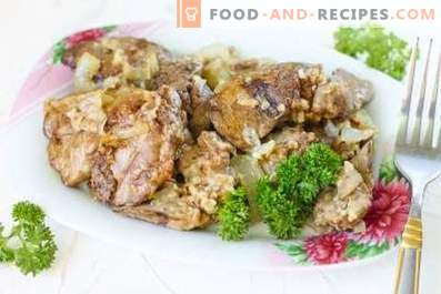 Foie de Poulet Frit avec Oignons