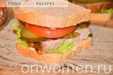 Sandwich au porc et légumes