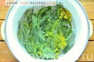 concombres salés salés dans la casserole