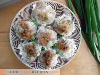 Hérissons de viande hachée avec du riz