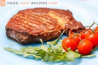 Steak de porc dans une casserole