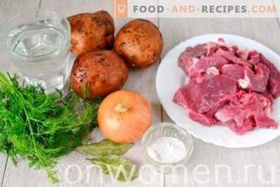 Ragoût de bœuf avec pommes de terre dans une mijoteuse