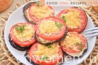 Aubergines frites avec tomates et fromage