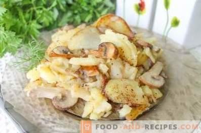 Comment faire frire des pommes de terre aux champignons dans une poêle
