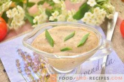 Mushroom sauce for meat