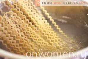 Pâtes aux champignons et au fromage à la crème