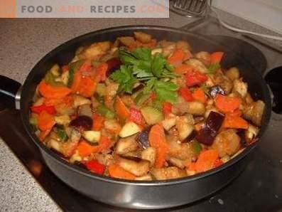Ragoût de légumes aux aubergines et courgettes