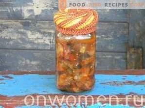Sautierte Auberginen und Zucchini