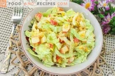 Salades au chou de Pékin