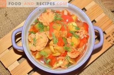 Légumes cuits à la tomate au four