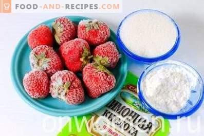 Kissel de fraises congelées