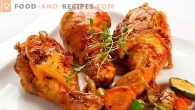 Pilons de poulet cuits dans une cocotte