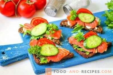 Sandwiches au saumon