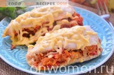 Filet de poulet cuit au four avec des légumes au four