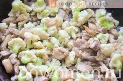 Frittata au chou-fleur et aux champignons