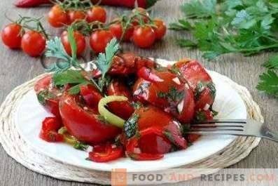 Tomates marinées rapidement