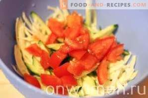 Salade de chou, maïs et concombre