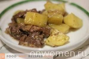Ragoût d'agneau avec pommes de terre