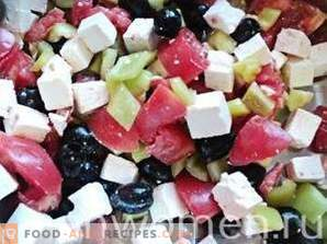 Salade au fromage grec