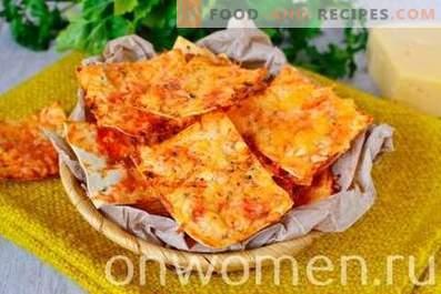 Chips de pita avec du fromage au four