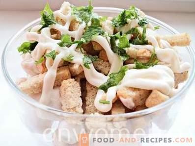 Salade de haricots et craquelins