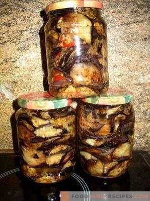 Aubergines frites pour l'hiver