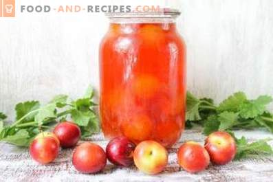 Compote de prunes et de cerises pour l'hiver