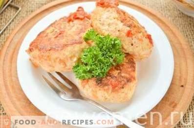 Boulettes de viande avec des légumes au four