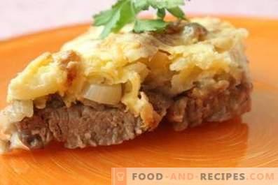 Viande au fromage et mayonnaise au four